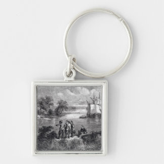 The Moravians Ascending the Delaware Keychain