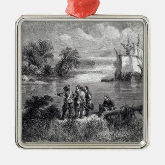The Moravians Ascending the Delaware Metal Ornament