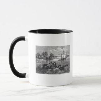 The Moravians Ascending the Delaware Mug