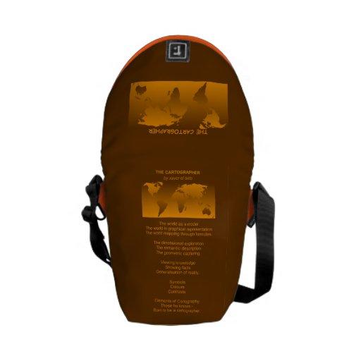 the more cartographer poem orange brown bag - smal