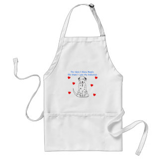 The More I Know People Dalmatian Adult Apron