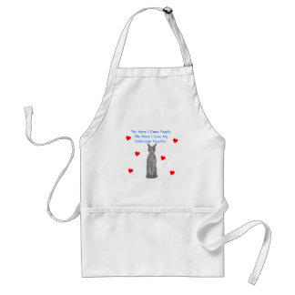 The More I Know People Doberman Pinscher Black Adult Apron