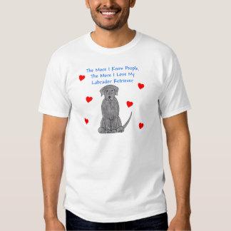The More I Know People Labrador Retriever Black Tshirt
