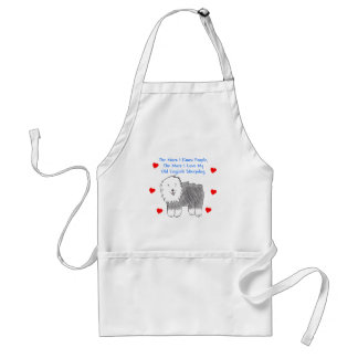 The More I Know People Old English Sheepdog Adult Apron