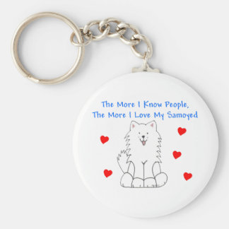 The More I Know People Samoyed Keychain