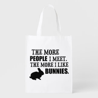 The More I Like Bunnies Market Tote