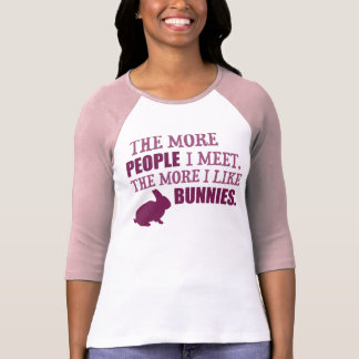 The More I Like Bunnies T-Shirt