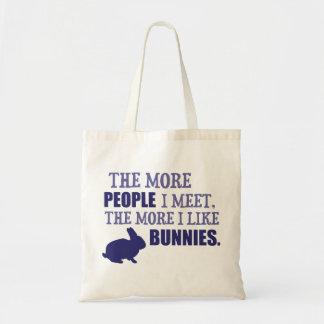 The More I Like Bunnies Tote Bag
