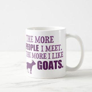 The More I Like Goats Coffee Mug
