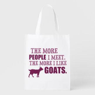 The More I Like Goats Grocery Bag