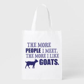 The More I Like Goats Market Tote