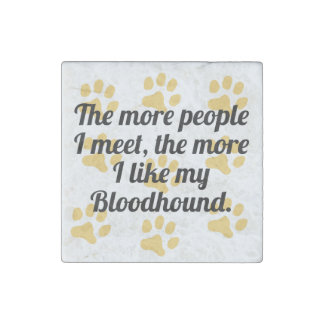 The More I Like My Bloodhound Stone Magnet