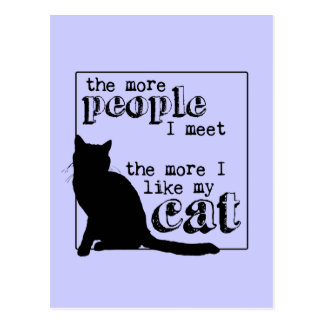 The More I Like My Cat - All Colors Postcard
