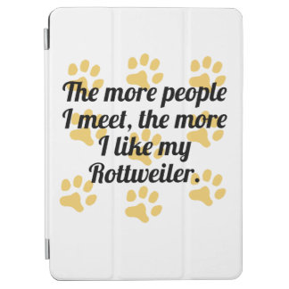 The More I Like My Rottweiler iPad Air Cover