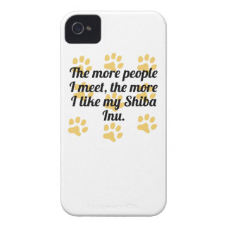 The More I Like My Shiba Inu Case-Mate iPhone 4 Cases