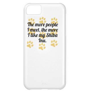 The More I Like My Shiba Inu Cover For iPhone 5C
