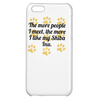 The More I Like My Shiba Inu Case For iPhone 5C