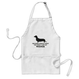 The More I Like My Weener Adult Apron