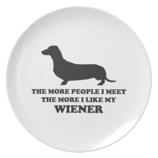 The More I Like My Weener Party Plate