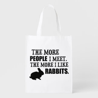 The More I Like Rabbits Reusable Grocery Bags