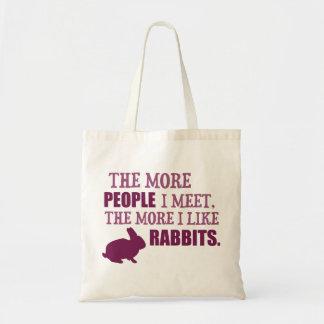 The More I Like Rabbits Tote Bag