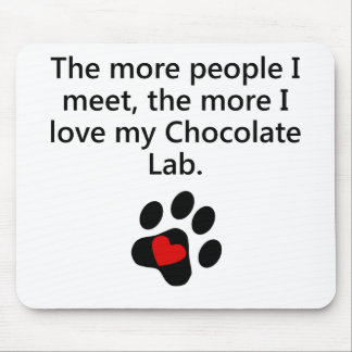 The More I Love My Chocolate Lab Mousepad