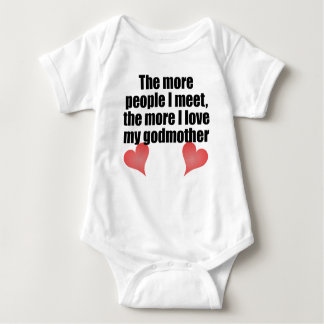 The More I Love My Godmother Baby Bodysuit