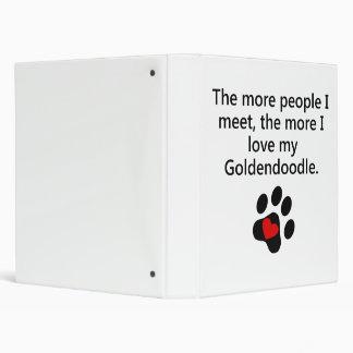 The More I Love My Goldendoodle 3 Ring Binder