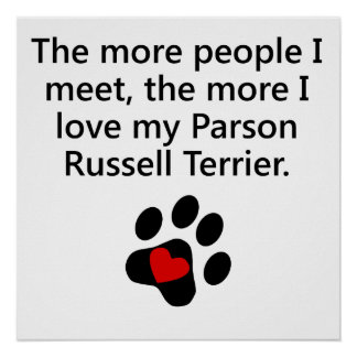The More I Love My Parson Russell Terrier Posters