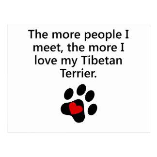 The More I Love My Tibetan Terrier Postcard