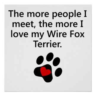 The More I Love My Wire Fox Terrier Poster