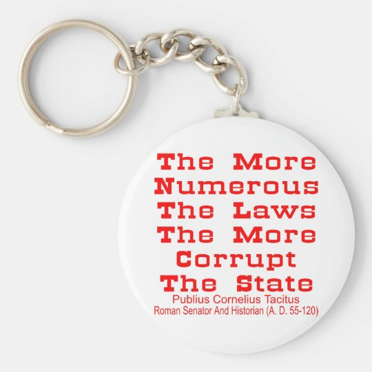 The More Numerous The Laws The More Corrupt The Keychain