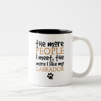The More People I Meet ... Labrador Two-Tone Coffee Mug