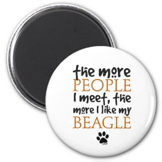 The more people I meet the more I like my Beagle Magnet