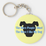 The More People I Meet The More I Like My Dog Key Chain