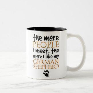 The More People I Meet ... Two-Tone Coffee Mug