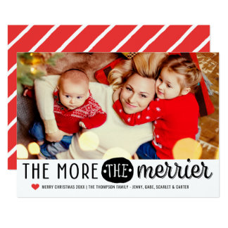 The More The Merrier | Christmas Photo Card