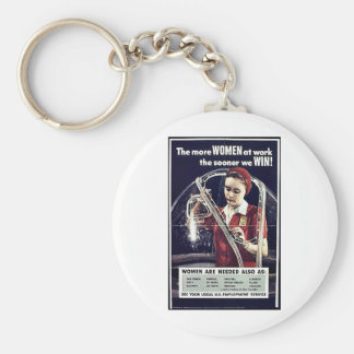 The More Women At Work The Sooner We Win Key Chain