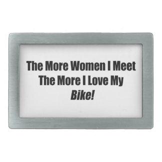 The More Women I Meet The More I Love My Bike Belt Buckles