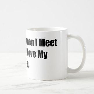 The More Women I Meet The More I Love My Bike Coffee Mug