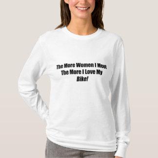 The More Women I Meet The More I Love My Bike T-Shirt