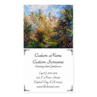 The Moreno Garden at Bordighera, 1884 Claude Monet Business Card