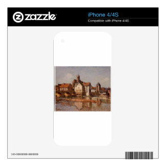 The Moret Bridge by Alfred Sisley Skins For The iPhone 4S