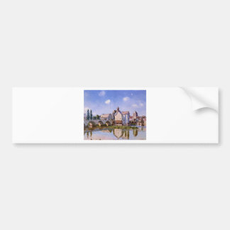 The Moret Bridge in the Sunlight by Alfred Sisley Bumper Sticker