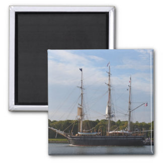 The Morgan Whaling Ship 2 Inch Square Magnet