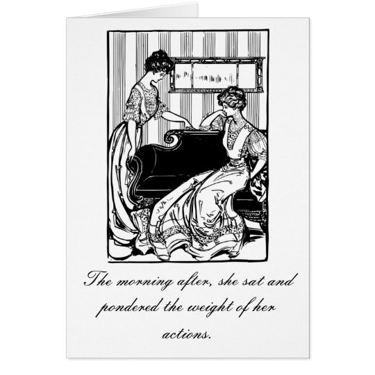 The Morning After Humor Birthday Card, Vintage Card