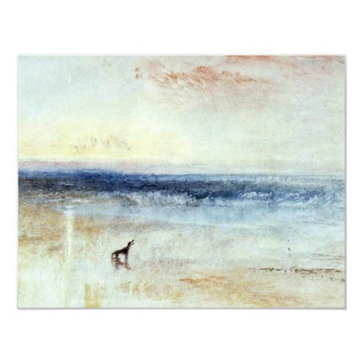 The Morning After The Shipwreck By Turner Joseph M 4.25x5.5 Paper Invitation Card