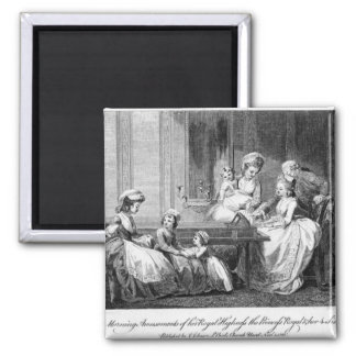 The Morning Amusements of the Royal Family 2 Inch Square Magnet