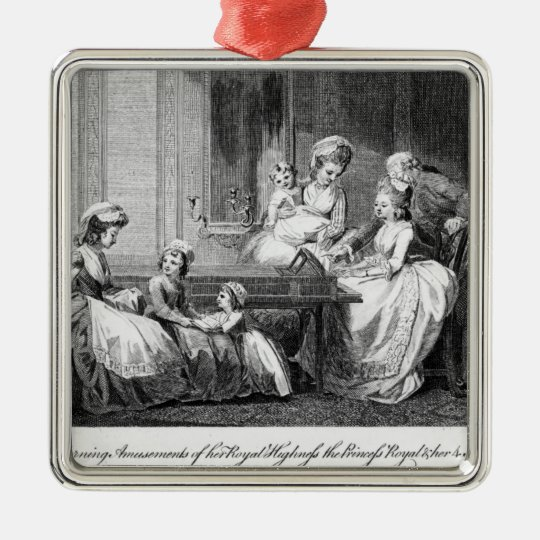 The Morning Amusements of the Royal Family Metal Ornament
