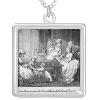 The Morning Amusements of the Royal Family Silver Plated Necklace